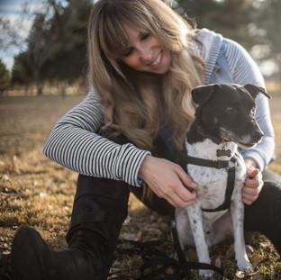Jennifer Hart with the Dog