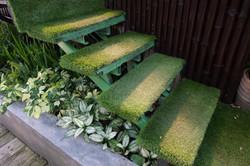 Kunstrasen-Garten-Treppe
