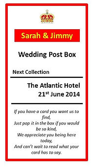wedding post box cornwall
