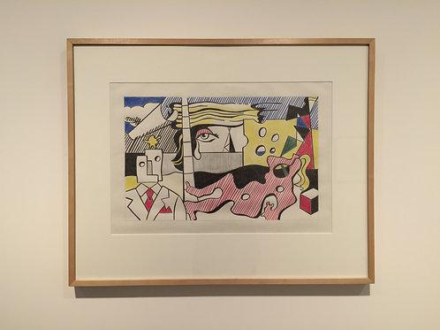 ELAINE STURTEVANT - Lichtenstein Final Study for Landscape with Figures, 1988