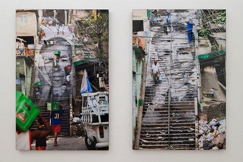 "JR - Set of 7 works ""28 Millimetres : Women are Heroes, Rio de Janeiro, Brazil"""