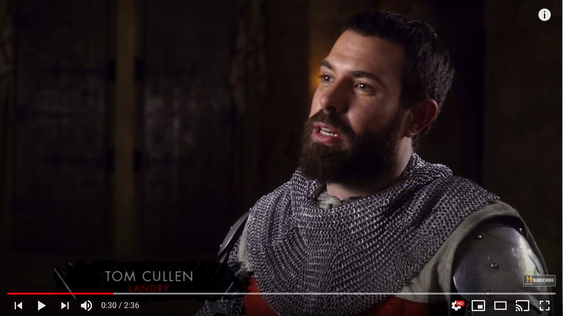 Tom Cullen: KnightFall Talent