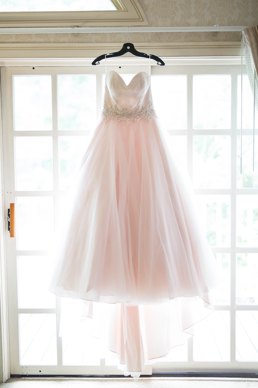 wedding blush dress