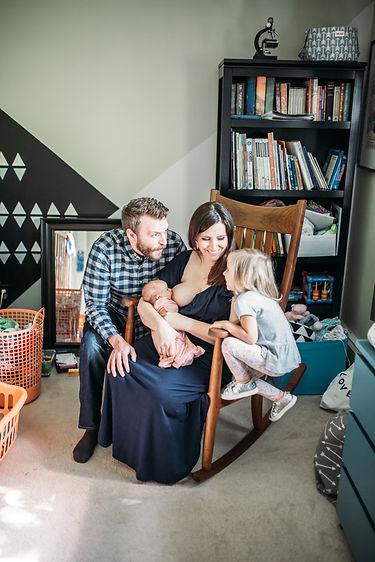 lifestyle newborn session Concord MA
