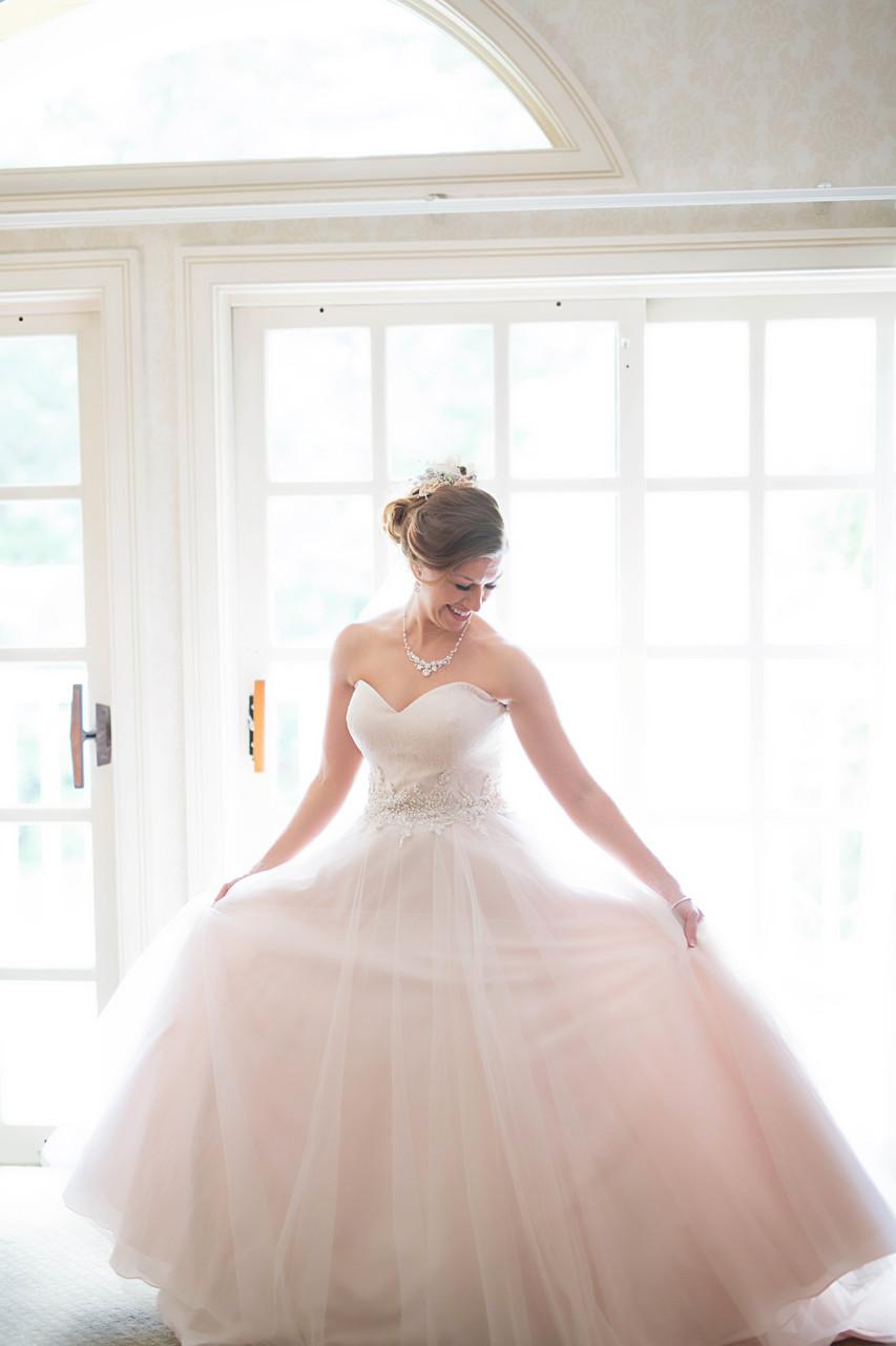 bride blush dress