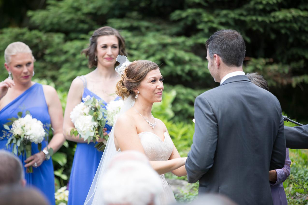 bride & groom wedding vows