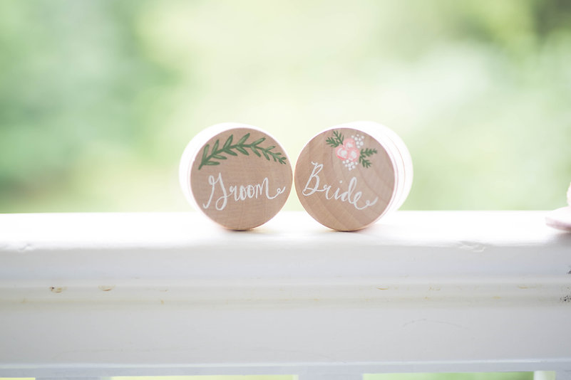 bride & groom ring boxes
