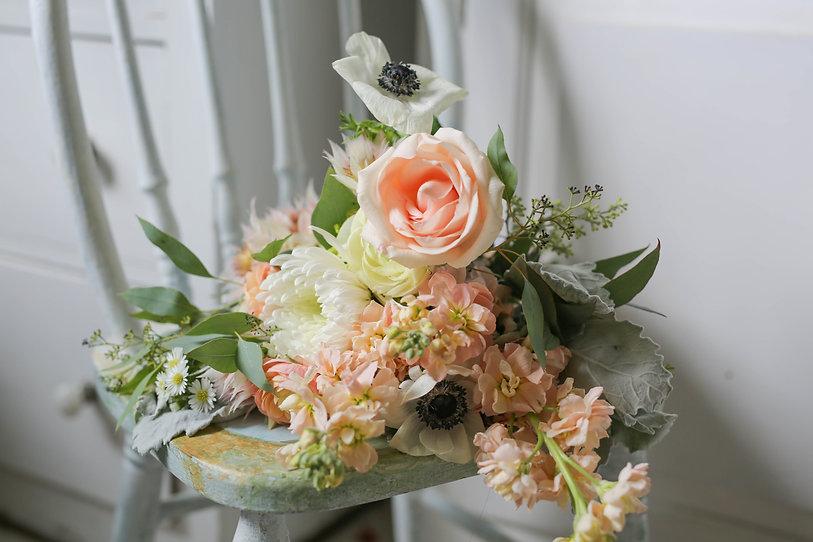 backyard wedding flower bouquet