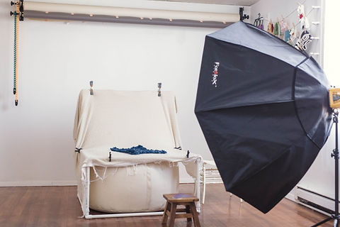 newborn bay photography set up with lightng for newborn photography in studio located in West Concord MA