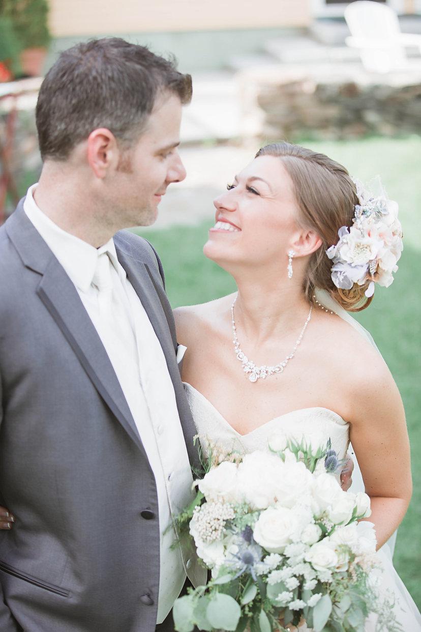 garden elopement bride & groom micro wedding