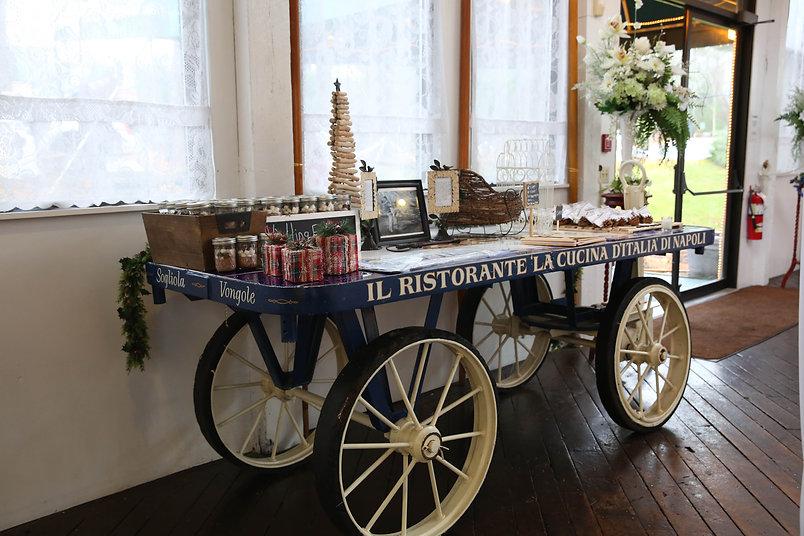 Rustic wedding cart MA micro wedding