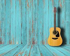 Guitar in vintage wood room..jpg