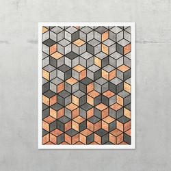 Concrete and Copper Cubes