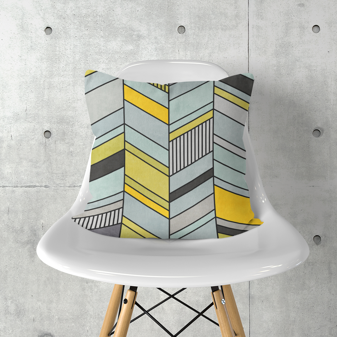 Colorful Concrete Chevron Pattern