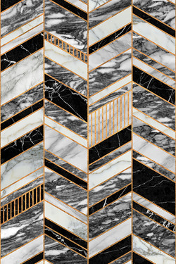 Abstract Chevron Pattern - Marble