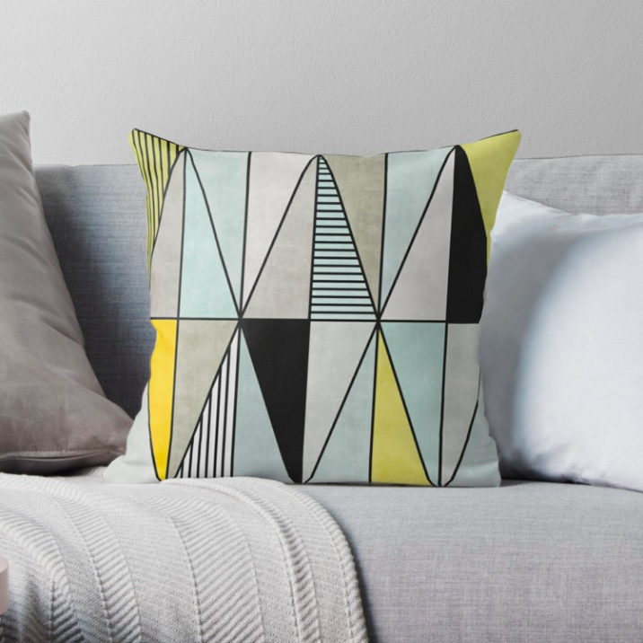 Colorful Concrete Triangles - Yellow