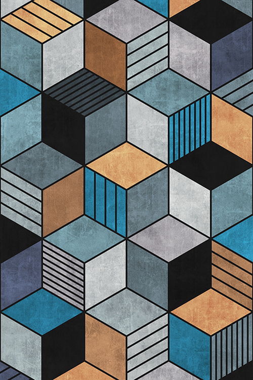 Colorful Concrete Cubes 2 - Blue ...