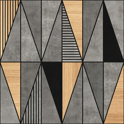 Concrete and Wood Triangles