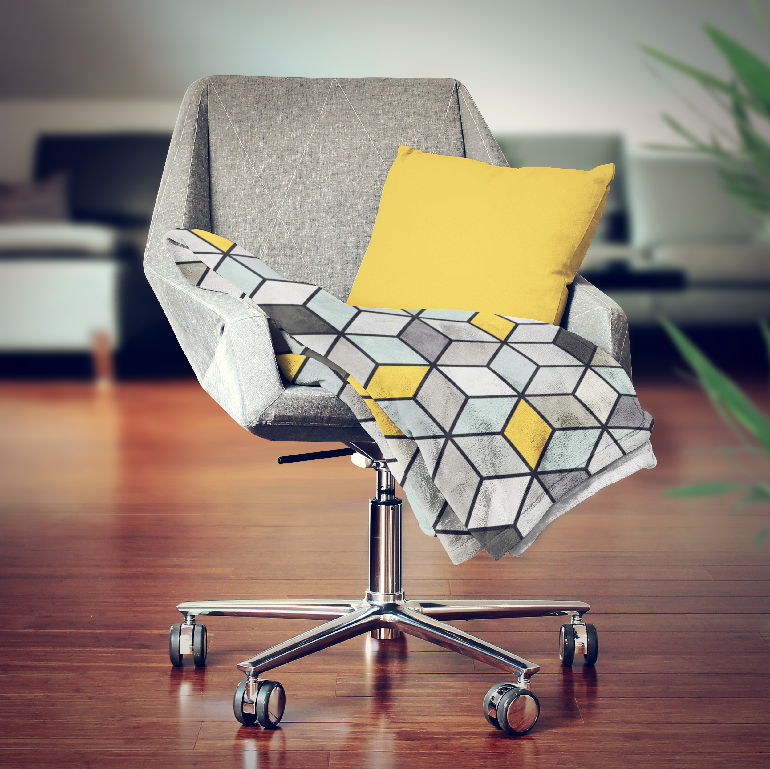 Colorful Concrete Cubes - Yellow ...