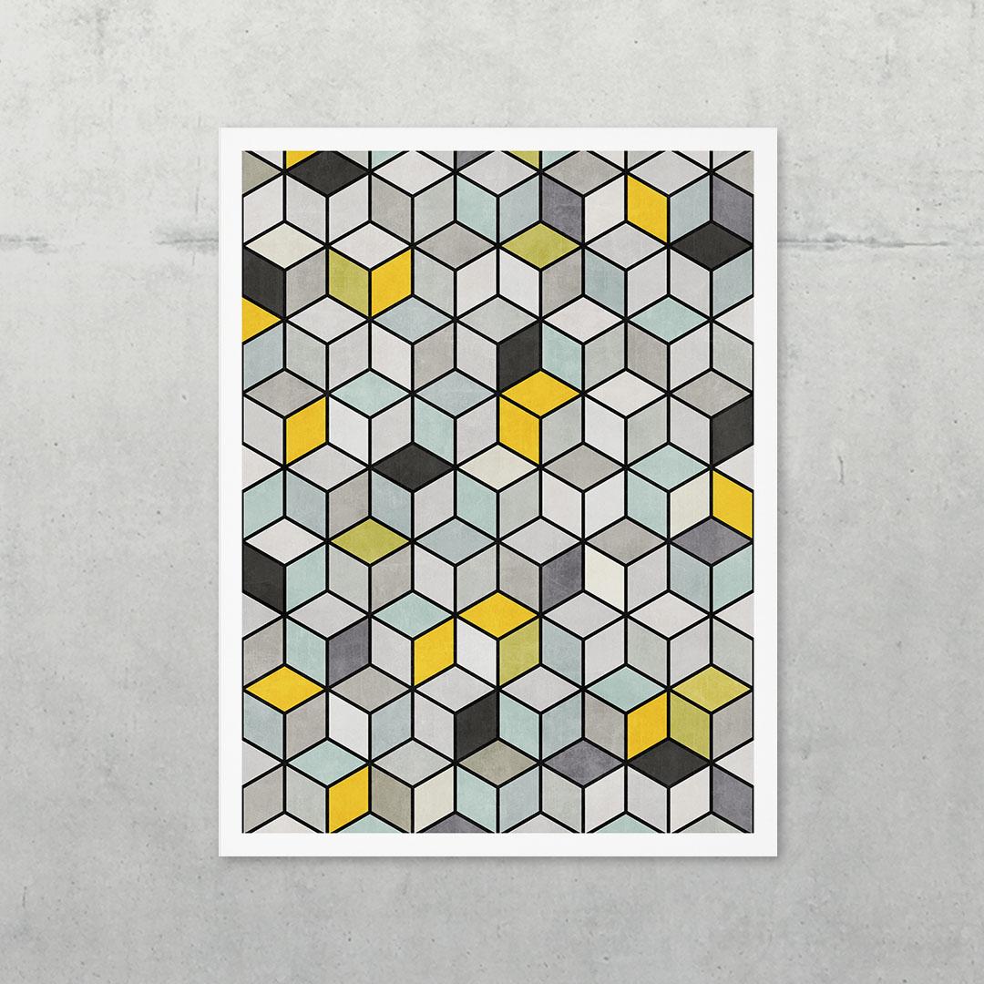 Colorful Concrete Cubes