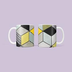 Colorful Concrete Cubes 2 - Yellow