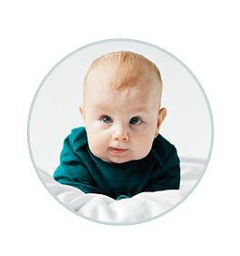 portrait of milk recipient baby Maclean