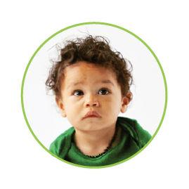 portrait of milk recipient baby Jude