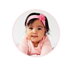 portrait of milk recipient baby Faith