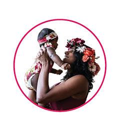 portrait of milk donor Aruna with her baby Nila