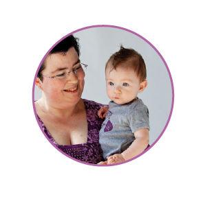 portrait of milk donor and recipient Brandy with her baby Callen