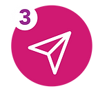 icon of a paper airplane symbolizing to fax or email your form