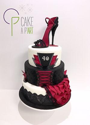 Gateau anniversaire chaussure femme et cabaret