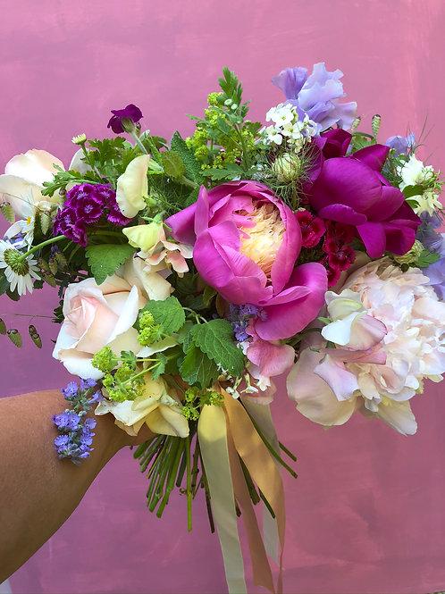 Medium seasonal bouquet of British flowers