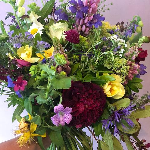 Large seasonal bouquet of flowers