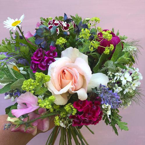 Small seasonal bouquet of pink flowers
