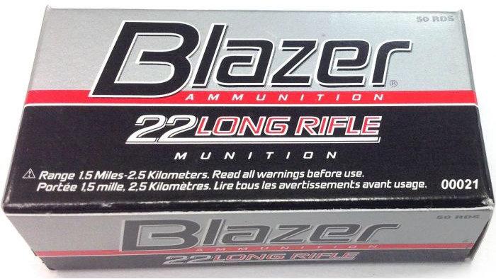 CCI .22 LR Blazer 40GR Ammunition