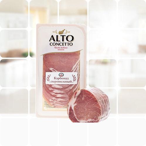 "Карбонат сыровяленый нарезка""Филетто"" ТМ""ALTO CONCETTO, 0,1кг"