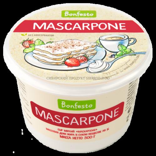 Маскарпоне сыр мягкий (Bonfesto) 78% 0,5кг