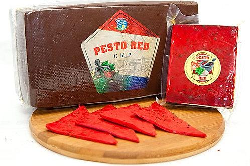 """Сыр """"Pesto Red""""  с зеленью и чесноком, голова 3,5 кг"""