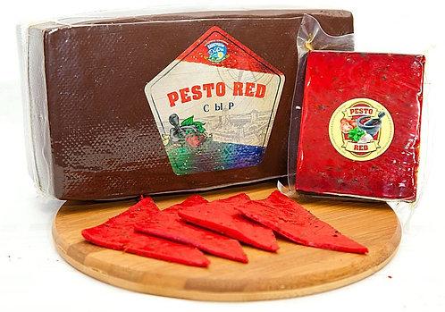 """Сыр """"Pesto Red"""" с зеленью и чесноком (брус ~3кг)"""