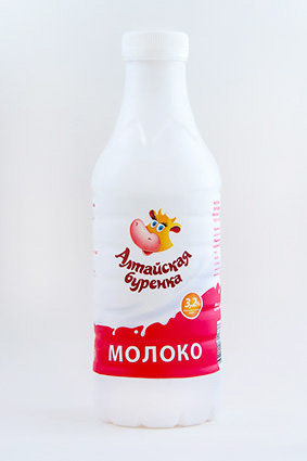 Молоко 3,2% Алтайская буренка ГОСТ пэт бутылка 0,85л