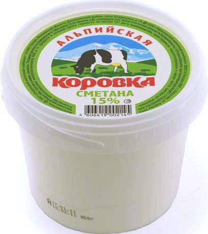 Сметанный продукт 15% «Альпийская коровка» 5кг.