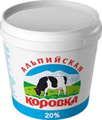 Сметанный продукт 20% «Альпийская коровка» 5кг.