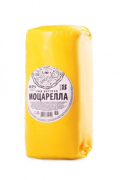 сыр Моцарелла 40% Русская КЕЗ, 2кг