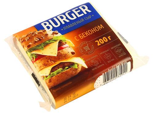 Слайсы с беконом сыр плавленый BURGER 200 гр