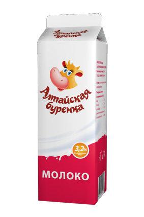 Молоко 3,2% Алтайская буренка пюр пак 0,9л