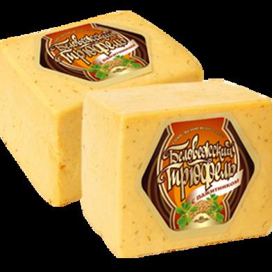 Сыр Трюфель с пажитником и ароматом грецкого ореха Беловежские сыры 2кг