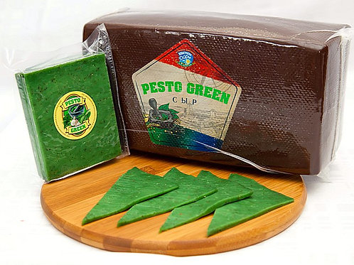"Сыр ""Pesto Green"" с базиликом и чесноком, голова 3,5кг"