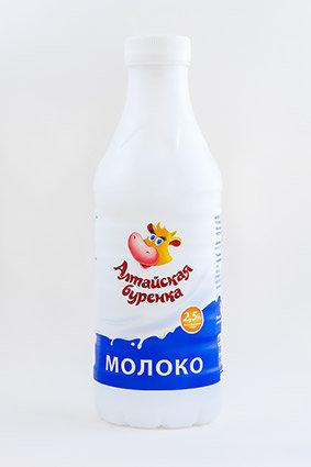 Молоко 2,5% Алтайская буренка ГОСТ пэт бутылка 0,85л