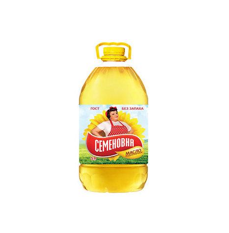 """""""Семеновна""""  подсолнечное масло, 5 л"""